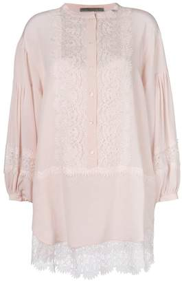 Ermanno Scervino lace panelled blouse