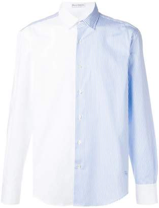 J.W.Anderson panelled striped shirt