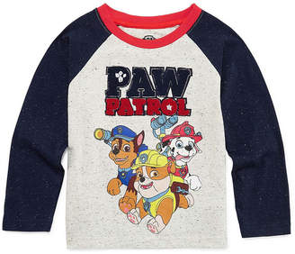 PAW PATROL Paw Patrol Long Sleeve Crew Neck T-Shirt-Toddler Boys