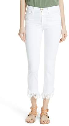 Frame Le High Shredded Straight Leg Jeans
