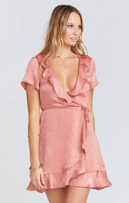 Show Me Your Mumu Winnie Wrap Dress ~ Rustic Mauve Sheen
