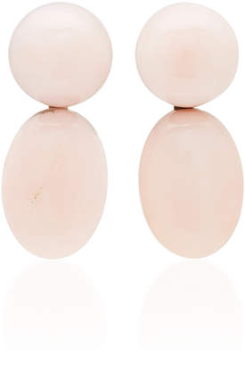 Sorab & Roshi One-Of-A-Kind Double Stone Pink Opal Earings