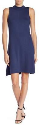 Joan Vass Mock Neck Sleeveless Knit Dress
