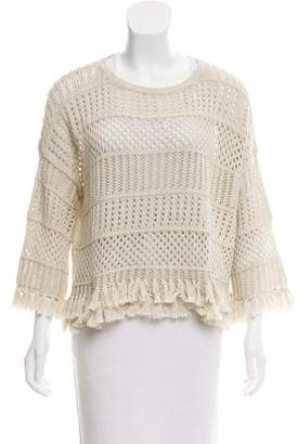 Cotton by Cashmere Open Knit Oversize Sweater