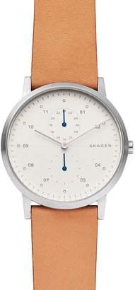 Skagen Kristoffer Brown Leather Strap Watch, 42mm