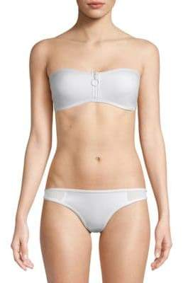 Stella McCartney Neoprene & Mesh Bandeau Bikini Top
