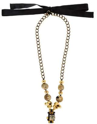 Marni Horn, Crystal & Pyrite Necklace