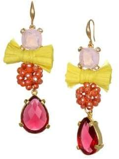 Badgley Mischka Faceted Crystal Drop Earrings