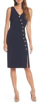 Vince Camuto Asymmetrical Button Front Dress