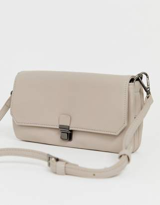 Marc B Handheld Clutch With Detachable Across Body Strap
