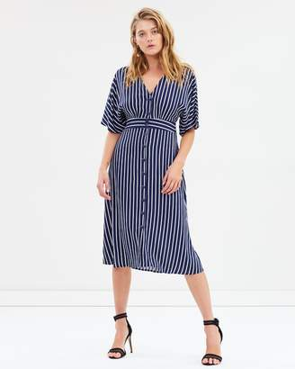 Sass Sassy Stripe Button-Through Dress