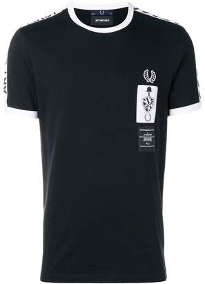 Fred Perry X Art Comes First logo print T-shirt