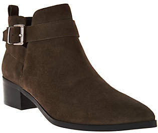 Marc Fisher Suede Pointed Toe Ankle Boots -Ireene