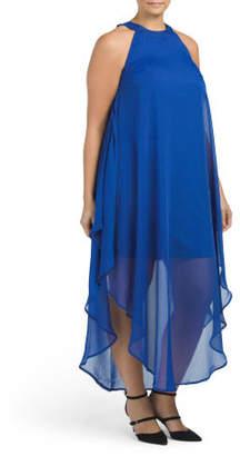 Plus Juniors Halter Maxi Dress