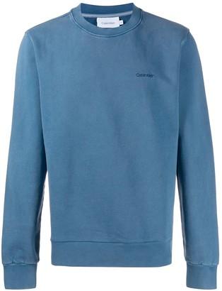 Calvin Klein logo embroidered sweater