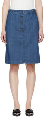 A.P.C. Indigo Denim Lois Miniskirt