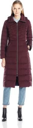 Bernardo Women's Quilted Maxi Coat