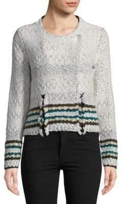 Leo & Sage Stripe-Trimmed Jacket