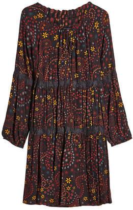 Steffen Schraut Printed Dress with Lace