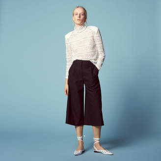 Sandro Cropped wide-leg trousers