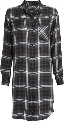 Rails Bianca Metallic Plaid Shirt Dress