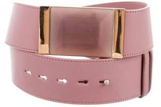 Elie Saab Leather Stone-Embellished Belt