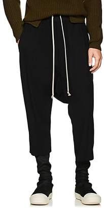 Rick Owens Men's Drawstring-Waist Virgin Wool Crop Trousers - Black