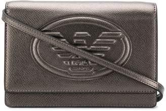 Emporio Armani embossed logo cross-body bag