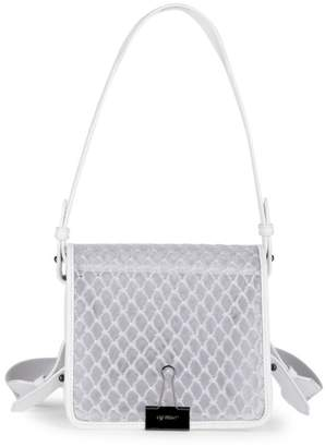 Off-White Off White PVC Binder Clip Top Handle Bag