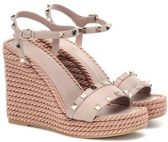 Valentino Torchon leather wedge sandals