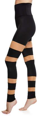 Norma Kamali Sheer Block High-Rise Mesh Leggings