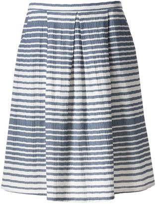 Women's Studio 253 Pleated Stripe Skirt $44 thestylecure.com