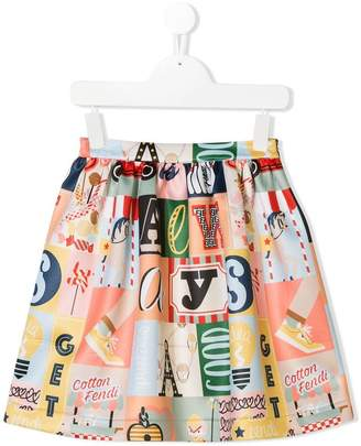 Fendi printed skirt