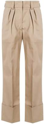 MSGM straight pleated trousers