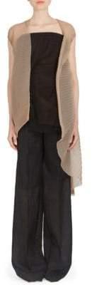 Rick Owens Short-Sleeve Crinkle Cardigan