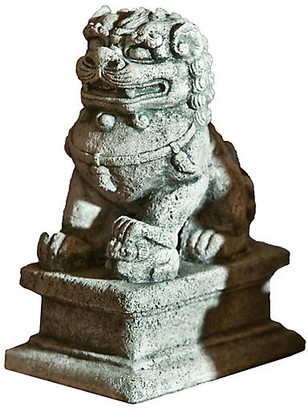 "Campania International 8"" Temple Foo Dog Outdoor Statue - Alpine Stone"