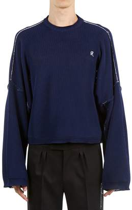 Raf Simons Cropped Sweater W/ Extra Long Sleeves
