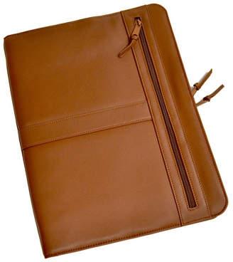 Royce Leather Royce New York Zippered Writing Portfolio Organizer