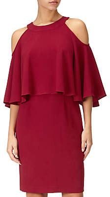 Adrianna Papell Cold Shoulder Sheath Dress, Cranberry