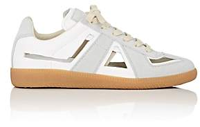 Maison Margiela Women's Replica Cutout Leather & Suede Sneakers - White