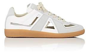 Maison Margiela Women's Replica Cutout Leather & Suede Sneakers-White