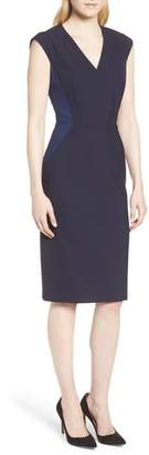 BOSS Dalana Patchwork Sheath Dress