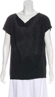 Eileen Fisher Beaded Short Sleeve Top