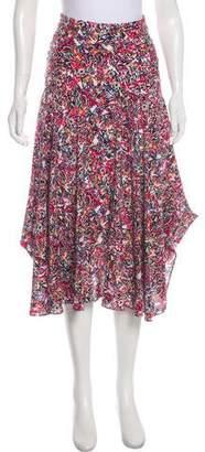 Saloni Silk Midi Skirt