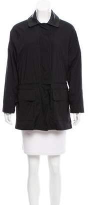 Loro Piana Short Leather-Trimmed Coat