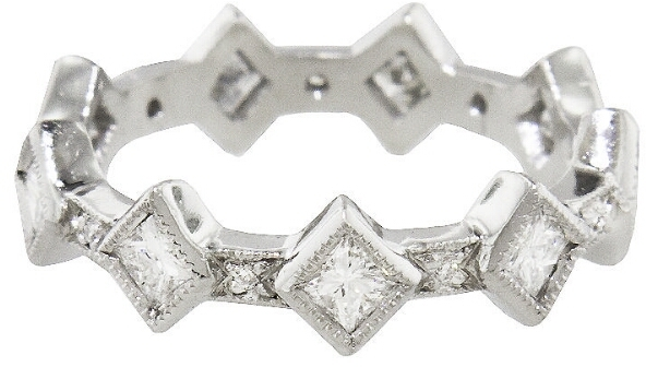 Cathy WatermanCathy Waterman Princess Cut Diamond Ring Band - Platinum