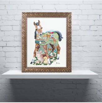 Jenny Newland 'Pony Tails' Ornate Framed Art