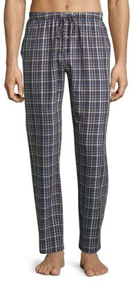 Hanro Paolo Flannel Lounge Pants, Toffee Check $148 thestylecure.com
