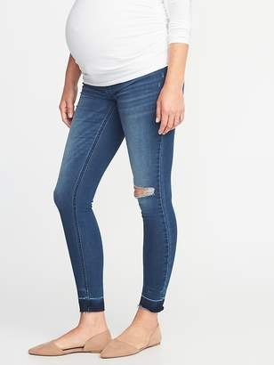 Old Navy Maternity Premium Full Panel Raw-Edge Rockstar Jeans