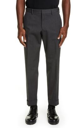 Dries Van Noten Cuffed Pinstripe Dress Pants